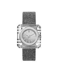 Tory Burch - Metallic Izzie Watch, Silver Crystal/silver, 36 X 36 Mm - Lyst