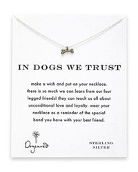 Dogeared | Metallic Dog Bone Charm Necklace | Lyst