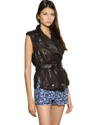 Étoile Isabel Marant Brown Washed Nappa Leather Vest
