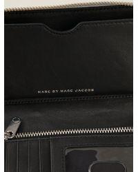 Marc By Marc Jacobs - Gray 'Sophisticato Wingman' Metallic Wallet - Lyst