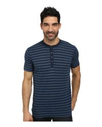 Agave | Blue Trestles Short Sleeve Henley for Men | Lyst