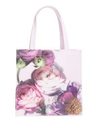 Ted Baker - Gray 'small Sunlit Floral Icon' Tote - Lyst