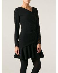 Emilio Pucci - Black Lace Sleeve Dress - Lyst