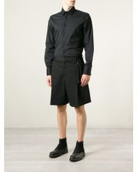 Givenchy - Black Pleated Shorts for Men - Lyst