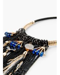 Mango | Black Bead Chain Necklace | Lyst