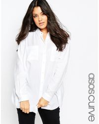 ASOS - Blue Soft Casual Shirt - Navy - Lyst