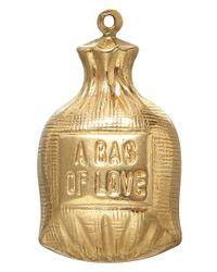 Annina Vogel - Metallic Vintage Gold Bag Of Love Charm - Lyst