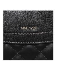Nine West | Black Flip Lock Satchel Bag | Lyst