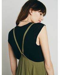 Free People | Green Solid Jump On It Jumper | Lyst