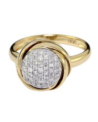 Effy | Metallic Doro 14kt. Yellow Gold And Diamond Ring | Lyst
