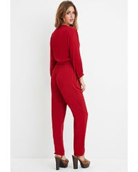Forever 21   Red Self-tie Tasseled Jumpsuit   Lyst