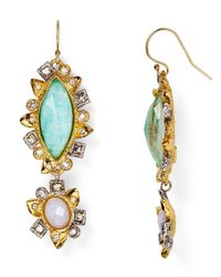 Alexis Bittar - Green Elements Reversed Mosaic Drop Earrings - Lyst