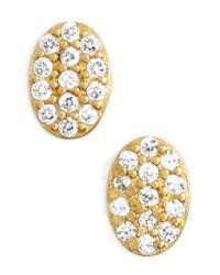Freida Rothman Metallic 'femme' Oval Stud Earrings