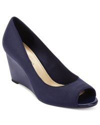 Bandolino | Blue Tufflove Evening Wedges | Lyst