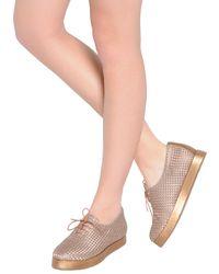 Giorgio Armani Brown Diamond Jacquard Nappa Leather Sneakers