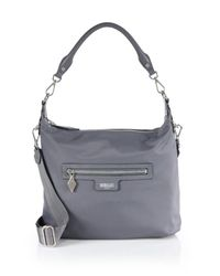 MZ Wallace | Gray Capri Nylon Crossbody Bag | Lyst