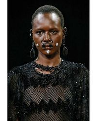 Givenchy - Black Pendant Nose Ring - Lyst