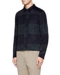 Kolor - Green Big Stripe Blouson Jacket for Men - Lyst