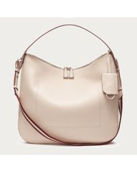 Bally Natural Fiona Medium Women's Leather Shoulder Bag In Nude