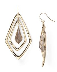 Alexis Bittar - Metallic Miss Havisham Black Moonstone Orbiting Teardrop Earrings - Lyst
