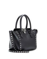 Valentino Black Rockstud Noir Leather Shoulder Bag
