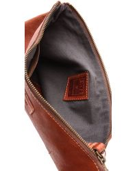 Frye Brown Artisan Pouch Whiskey