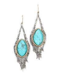 Alexis Bittar - Blue Feathered Tear Doublet Pave Earrings Turquoise - Lyst