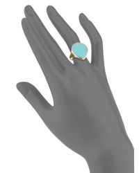 Ippolita - Blue Rock Candy Turquoise & 18K Yellow Gold Teardrop Ring - Lyst