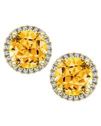 Kiki McDonough | Metallic Grace 18k Gold Citrine & Diamond Earrings | Lyst