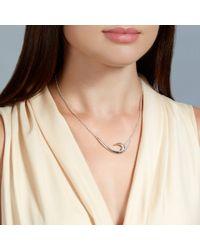 Shaun Leane Metallic Silver Hook Necklace