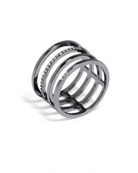 BaubleBar - Metallic Ice Quad Ring - Lyst