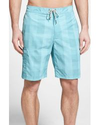 Tommy Bahama | Blue 'the Baja' Check Swim Trunks for Men | Lyst