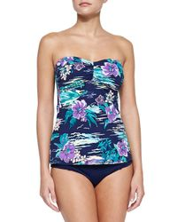 Tommy Bahama - Multicolor Floral-print Bandini Swim Top - Lyst