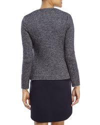 Les Copains - Blue Navy Lurex Knit Jacket - Lyst