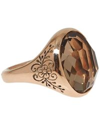 Laurent Gandini - Pink Rose Gold Smoky Quartz Oval Ring - Lyst