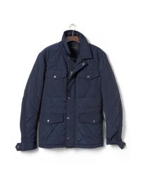 Banana Republic - Blue Quilted Four-pocket Jacket for Men - Lyst