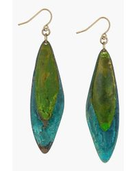 Sam Edelman | Green Resin Drop Earrings | Lyst