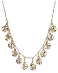 kate spade new york - Metallic New York Goldtone Crystal Ball Collar Necklace - Lyst