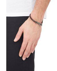 Tod's - Brown Braided Bracelet for Men - Lyst