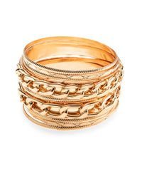 Cara Couture | Metallic Multi Bangle Bracelet Set/gold | Lyst