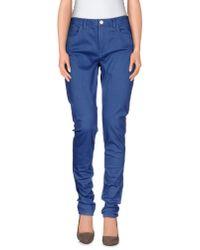 Acne Studios - Blue Casual Trouser - Lyst