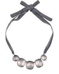 Jaeger | Gray Pebble Ribbon Necklace | Lyst