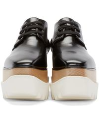 Stella McCartney - Black Platform Elyse Derbys - Lyst