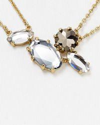 "Rebecca Minkoff - Metallic Starry Stone Necklace, 18""l - Lyst"