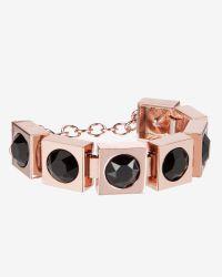 Ted Baker | Black Square Crystal Bracelet | Lyst