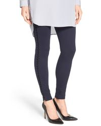 Lyssé | Blue Control Top Lace Up Leggings | Lyst