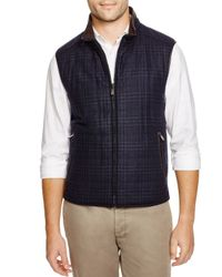 Corneliani - Blue Glen Plaid/solid Reversible Vest for Men - Lyst