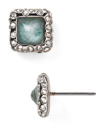 Alexis Bittar | Blue Amazonite Geometric Stud Earrings | Lyst