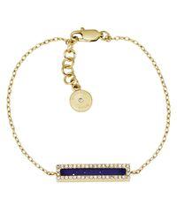 Michael Kors | Metallic Lapis Stone Bar Bracelet | Lyst