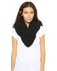 White + Warren | Black Cashmere Two Way Angled Poncho - Fog Heather | Lyst